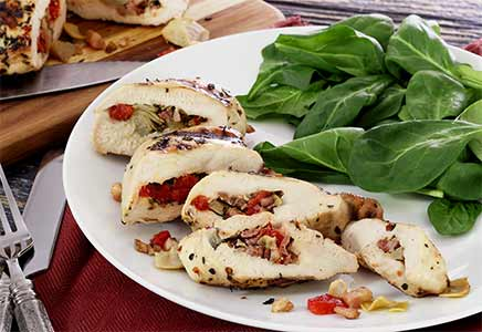 easy paleo recipe for pancetta-stuffed chicken breast