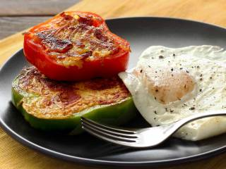 Paleo Pepper Rings with Bacon & Hash Browns