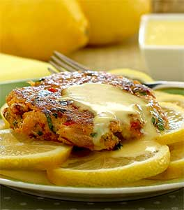 Paleo Crab Cakes with Lemon Aioli Sauce Recipe
