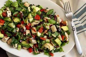 easy paleo recipe for greek salad with chicken