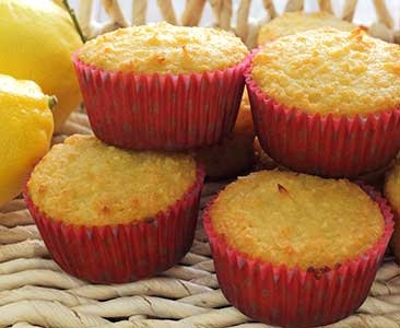 easy paleo diet recipe for lemon and coconut muffins