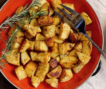 Paleo Roasted Mustard White Sweet Potatoes Recipe