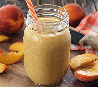 easy paleo recipe for a peach smoothie