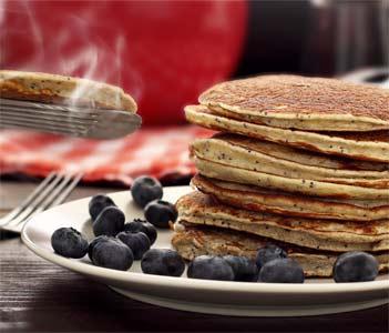 easy paleo recipe for lemon and poppy seed pancakes