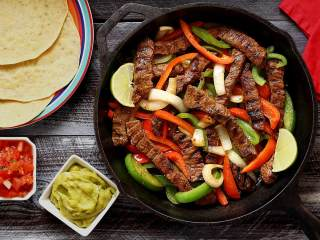 Steak Fajitas with Paleo Tortillas