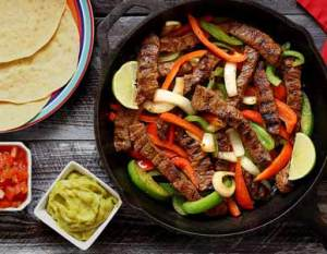 simple paleo recipe for steak fajitas with gluten-free tortillas