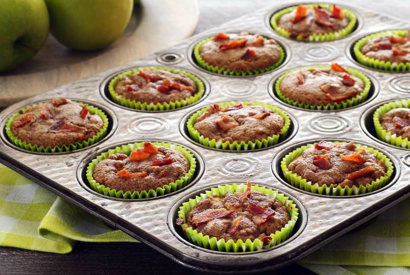 easy paleo recipe for apple-bacon muffins