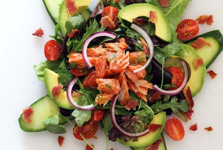 Paleo Smoked Salmon Salad