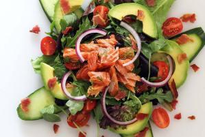 easy paleo smoked salmon salad recipe