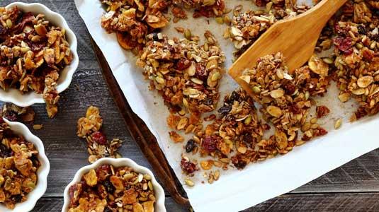 pumpkin spice granola made paleo recipe