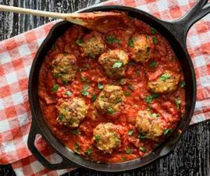 easy paleo recipe for skillet Italian meatballs