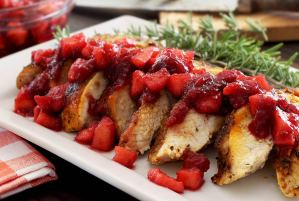 simple paleo recipe for roasted turkey with fruit compote