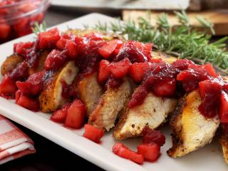 Turkey for Two with Easy Apple-Cranberry Compote