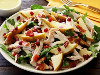 Fall Harvest Turkey and Pear Salad with Pear Vinaigrette