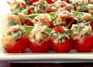 healthy paleo recipe for BLT bites appetizer