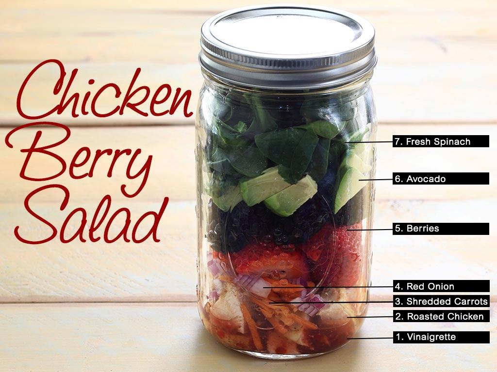mason jar berry salad