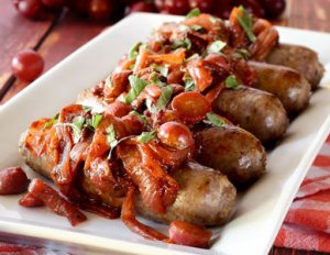 easy paleo recipe for Italian sausage one pan paleo meal