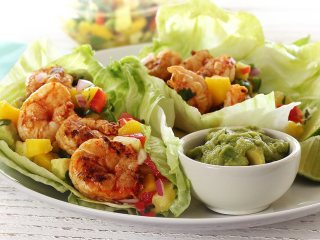 Paleo Spicy Grilled Shrimp Wraps