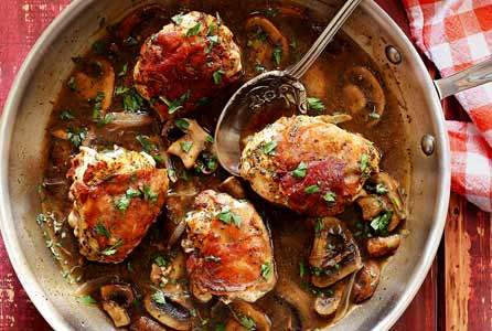 Prosciutto-Wrapped Chicken with Marsala Mushroom Sauce Recipe