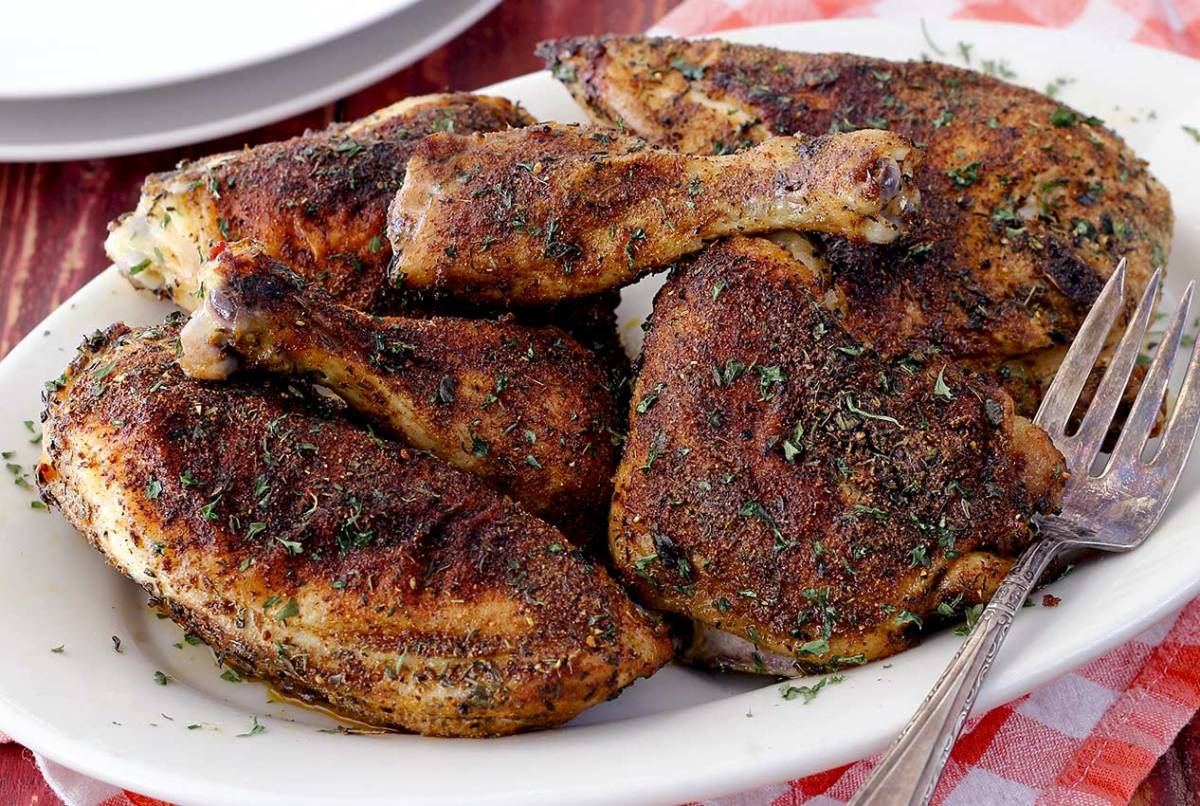 easy herb and spice paleo baked chicken recipe