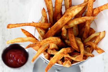 how to make sweet potato fries crispy