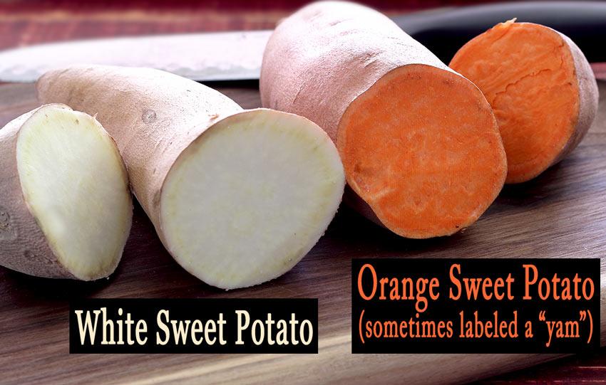 white sweet potato vs orange sweet potato