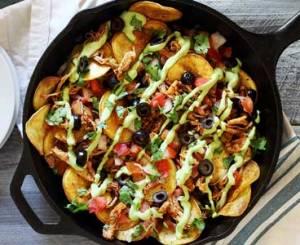 chicken nachos skillet paleo recipe