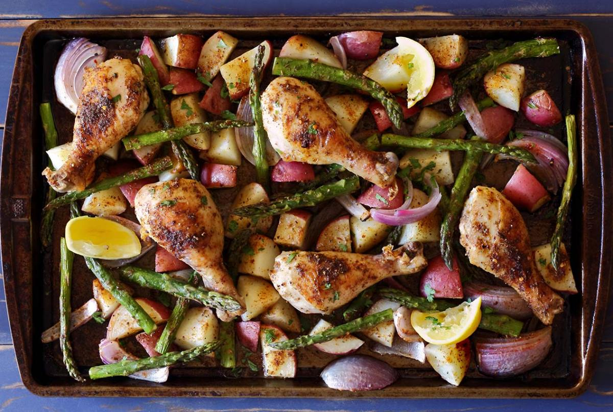 easy paleo recipe for sheet pan chicken and veggies