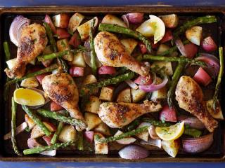 Easy Sheet-Pan Roasted Chicken and Market Veggies