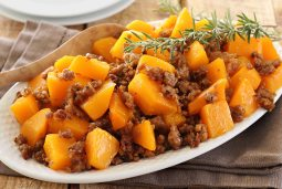 Easy paleo butternut squash and Italian sausage side dish recipe