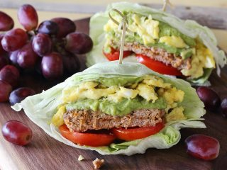 Easy Paleo Sausage, Egg & Guacamole Breakfast Wrap