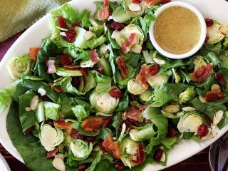 Fresh & Savory Brussels Sprouts Salad with Lemon Vinaigrette