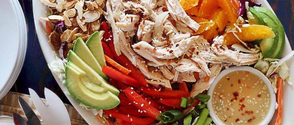 asian chicken salad with creamy sesame dressing paleo recipe