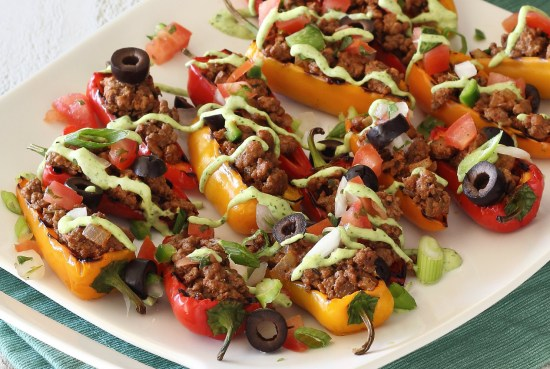 Paleo Newbie mini stuffed peppers appetizer