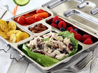 Cranberry-Pecan Paleo Chicken Salad To-Go