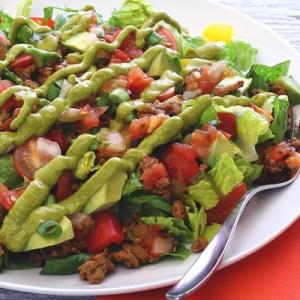 paleo newbie easy taco salad recipe