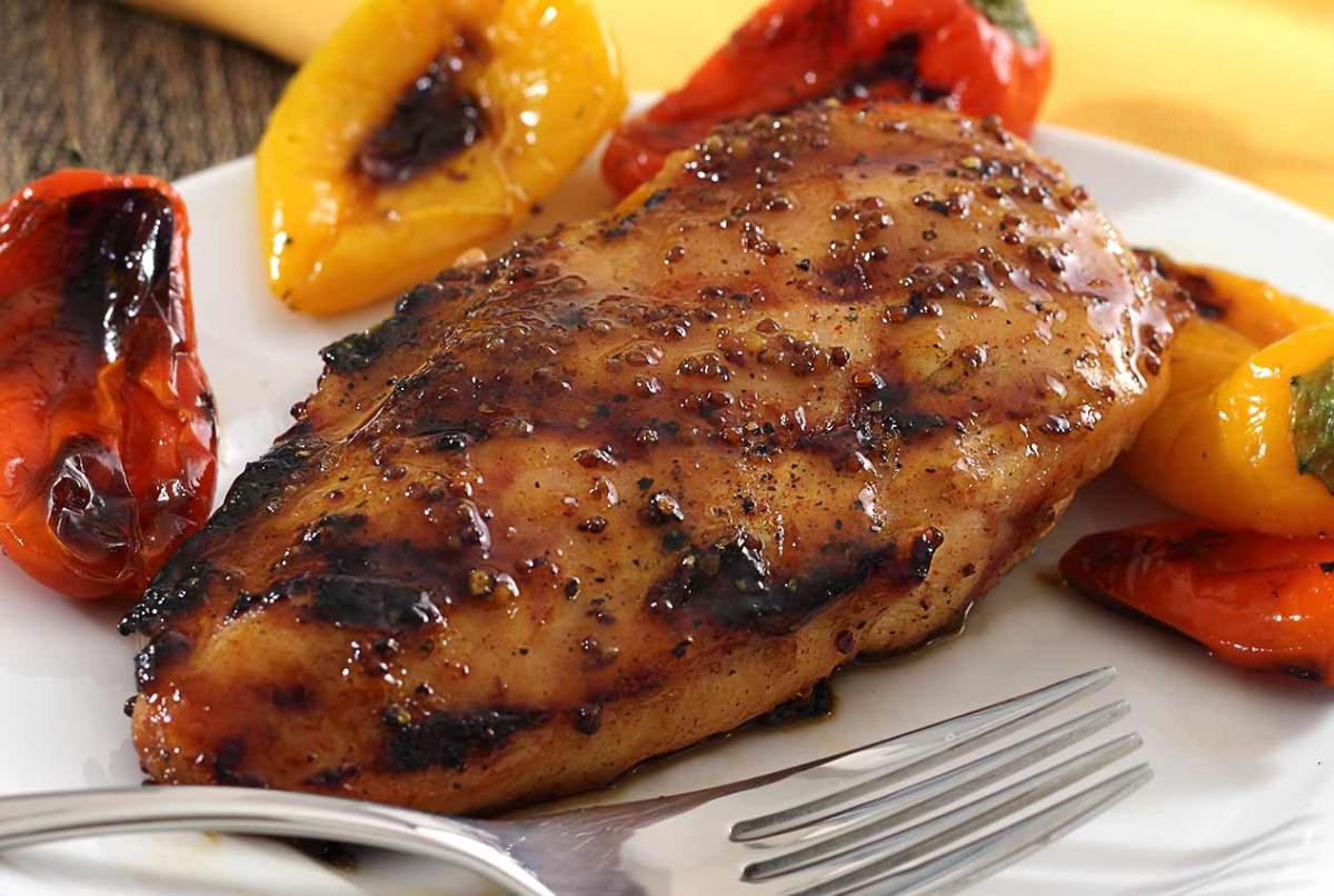simple paleo recipe for a maple-mustard chicken glaze for grilling