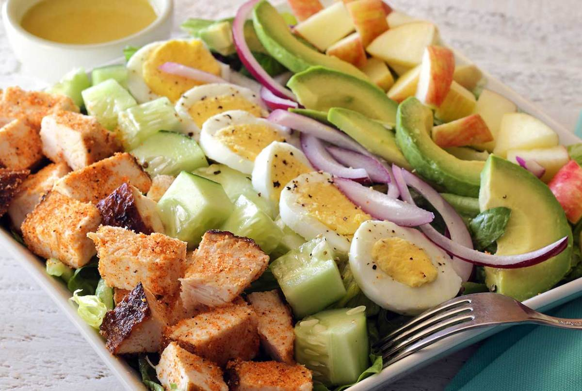 Paleo chicken chopped salad
