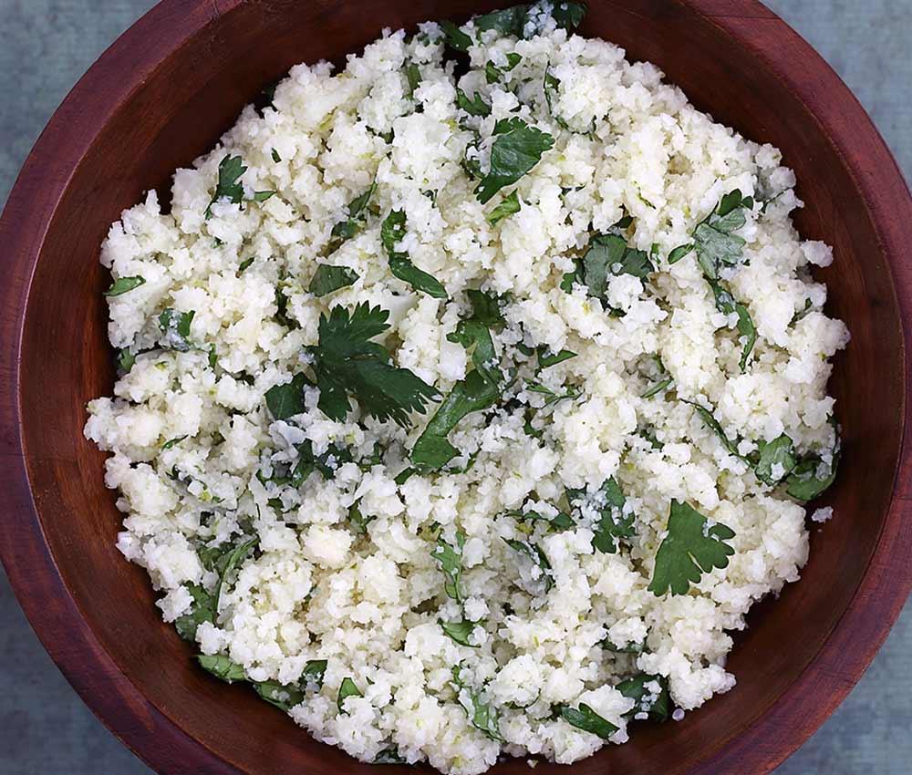 "simple recipe for paleo ""rice"" using cauliflower instead of grains"