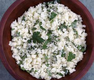 "simple recipe for paleo ""rice"" using cauliflower instead of grains"