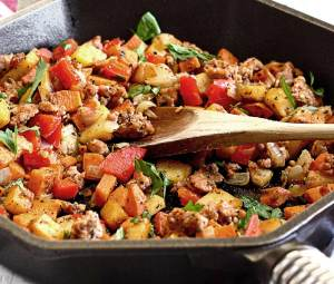 paleo sweet potato and sausage hash recipe