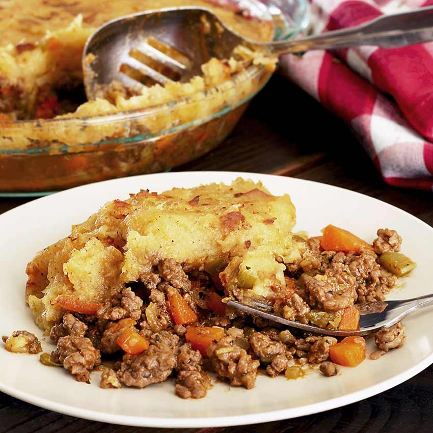 A delicious paleo and gluten-free recipe for shepherd's pie made with ground beef.