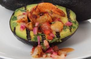 paleo recipe for spicy grilled shrimp avocado boat