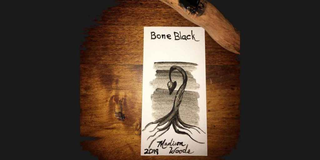 Bone Black Swatch from Wild Ozark Paleo Paints.