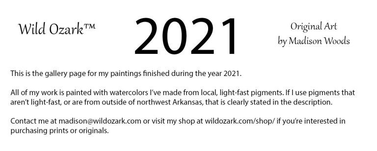 2021 Gallery Page Information about the art of Madison Woods.