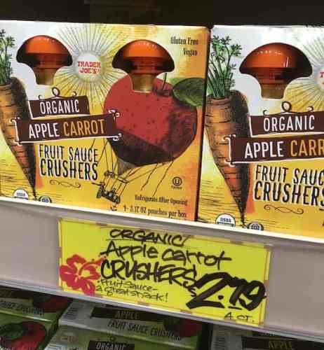 Apple Carrot Fruit Sauce Crushers | Trader Joe's