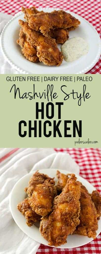 This Nashville style fried hot chicken is a gluten free, dairy free, paleo version of the original! | PaleoScaleo.com