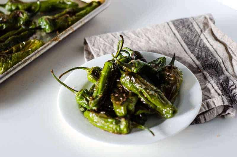 Easy Roasted Shishito Peppers