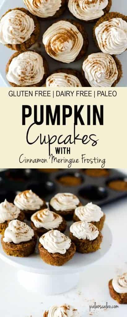 A gluten free and dairy free pumpkin cupcake that will have your guests going back for seconds! | PaleoScaleo.com
