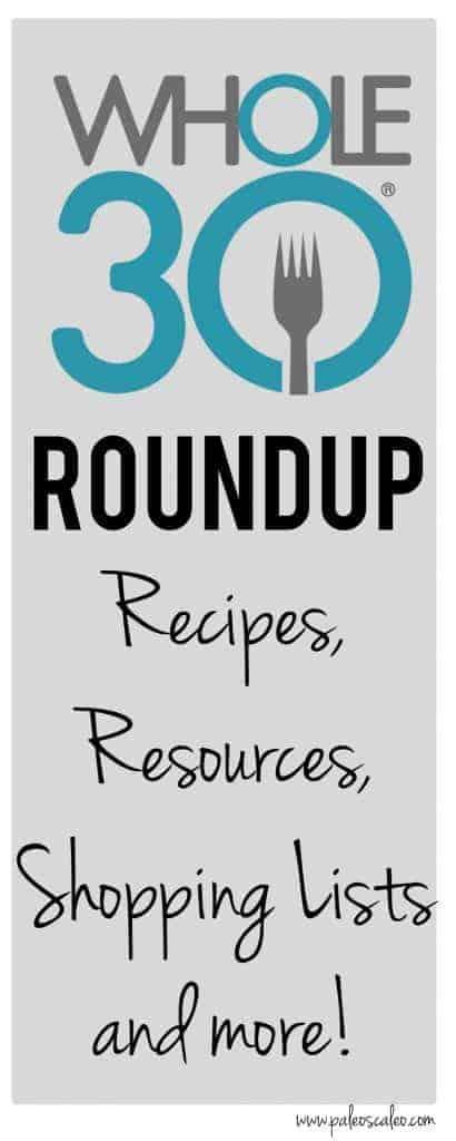 Whole30 Roundup: Recipes, Resources, Shopping Lists and more! | PaleoScaleo.com